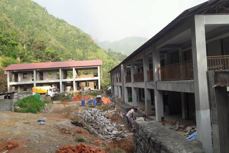 Under Construction School Building